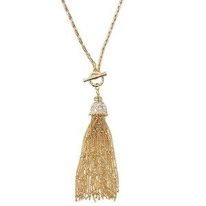 NWT! Lilly Pulitzer Fronds Chain Tassel Necklace